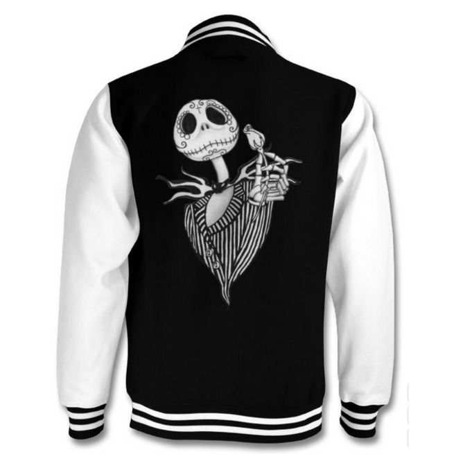 Jack Skellington Varsity Jacket #varsityjacketoutfit
