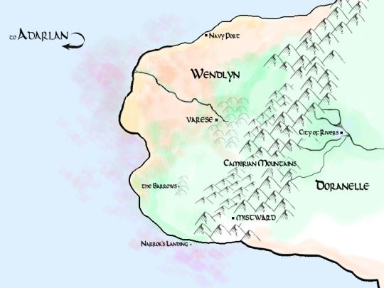 Map of Wendlyn and Doranelle (Throne of Glass series by ...