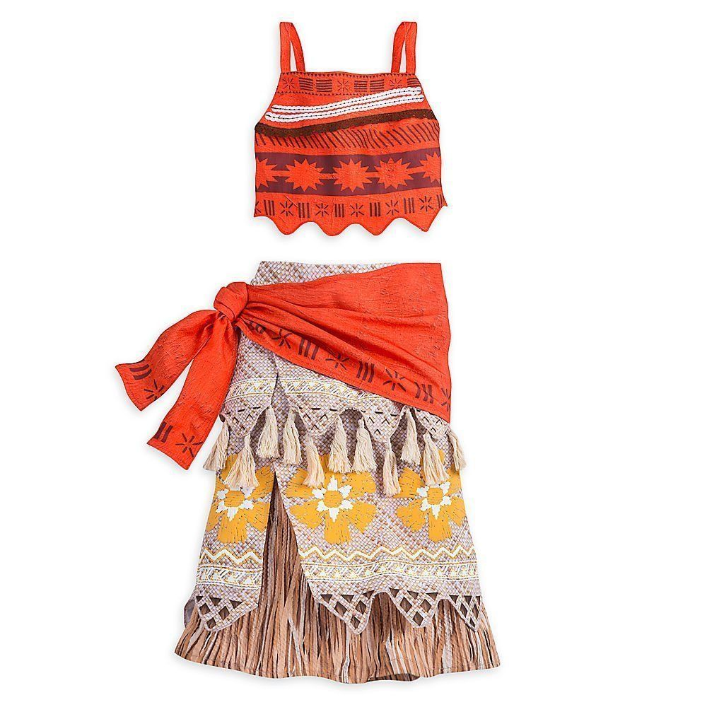 NEW Disney Moana Authentic Dress Up Costume for Girls Size 9/10, 2 ...