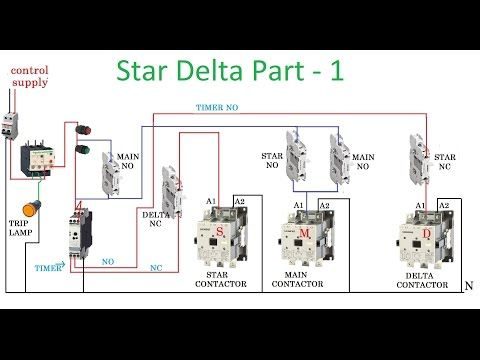 Automatic Star Delta Connection For Two Motors Google Search Circuit Diagram Delta Connection Electrical Circuit Diagram