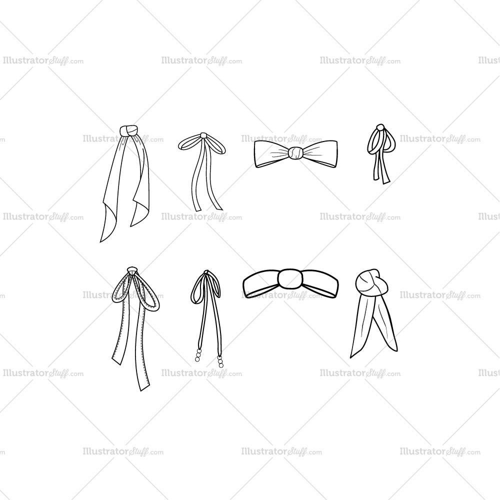 Free Fashion Flat Templates Trim Pack Courses Free Tutorials On Adobe Illustrator Tech Packs Freelancing For Fashion Designers Fashion Design Drawings Bow Drawing Bow Template