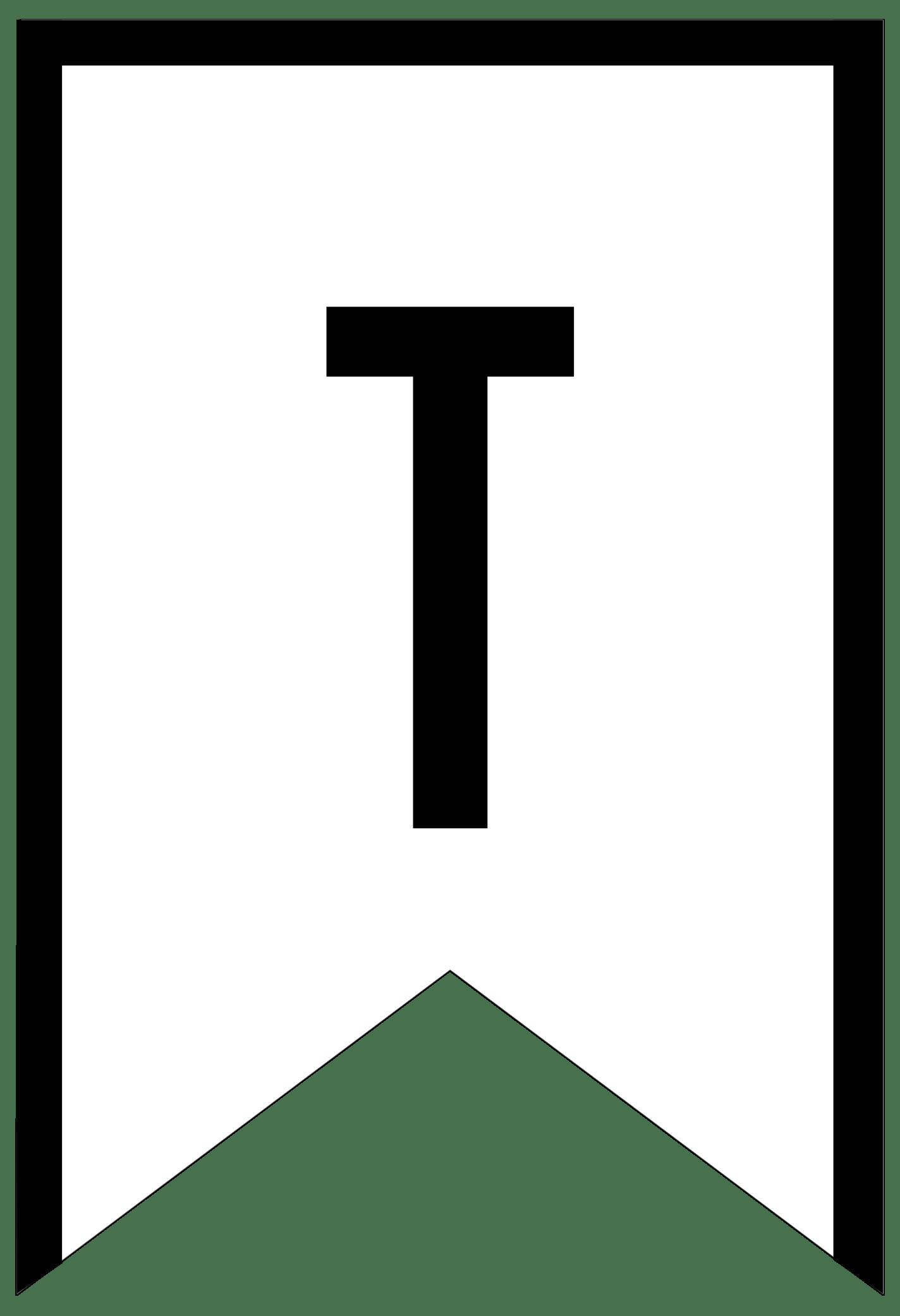letter banner template