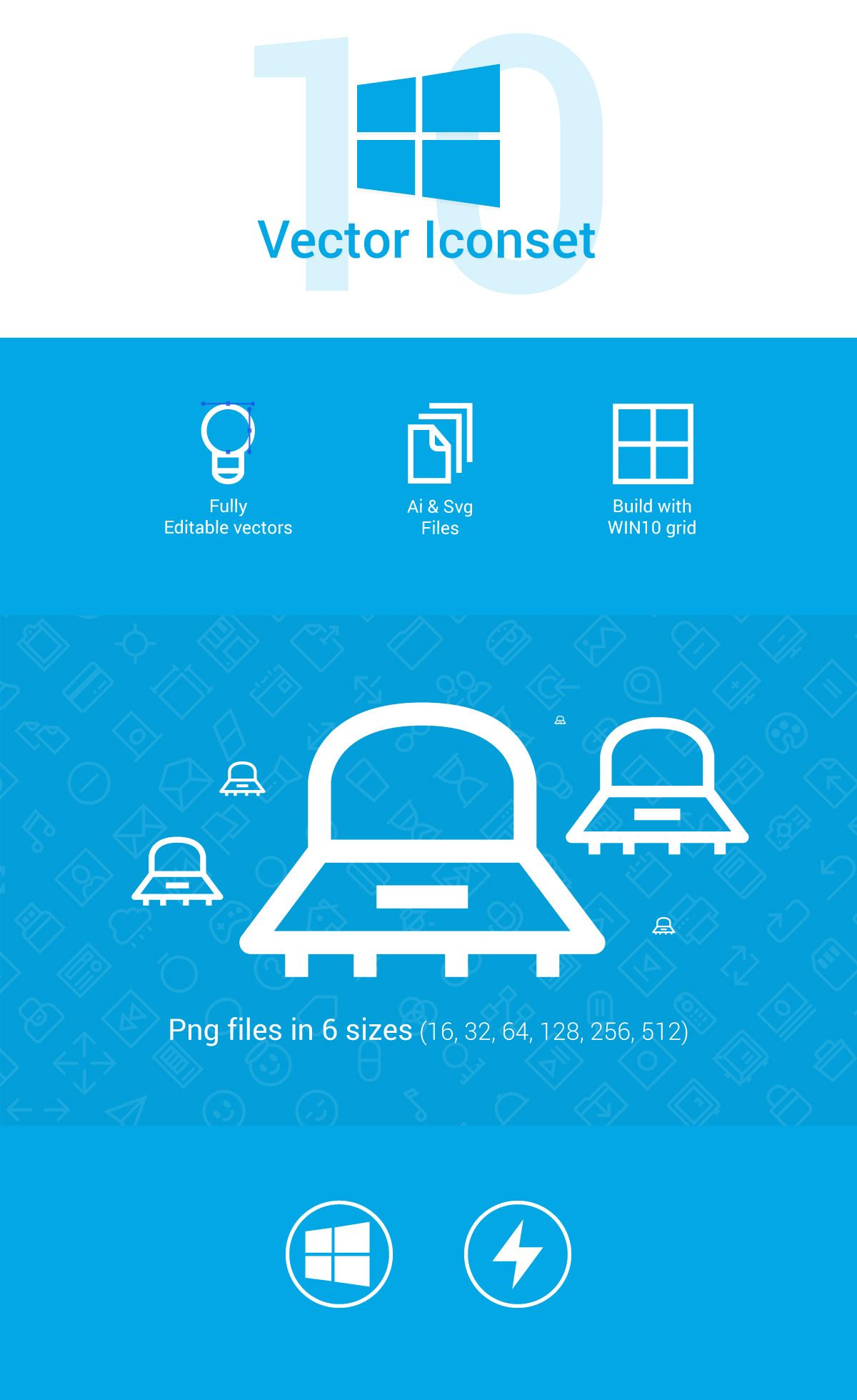 Windows 10 icons Windows 10, Icon set vector, Icon