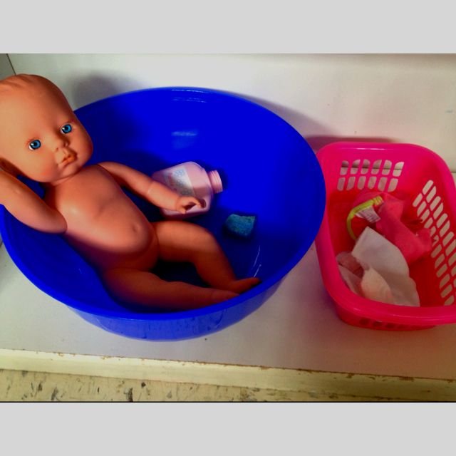 Toddler Montessori - practical life- bathing and dressing baby doll
