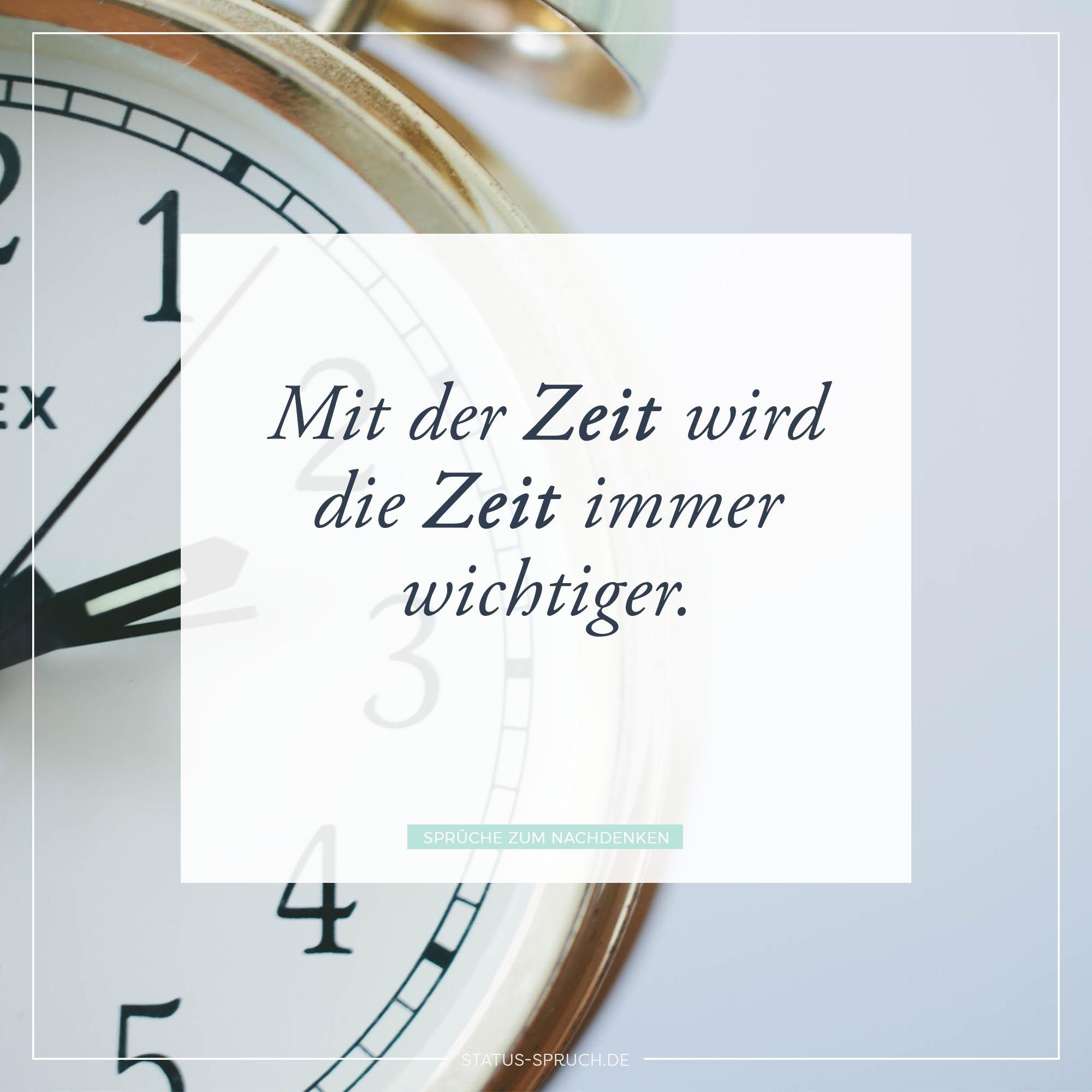 Mit der Zeit wird die Zeit immer wichtiger