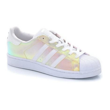 Shopping : baskets femme Superstar adidas irisées