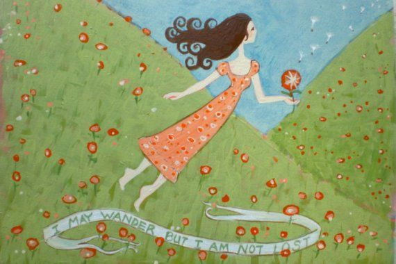 Flying Girl Off the Path or I May Wander but I Am Not Lost by rowenamurillo,