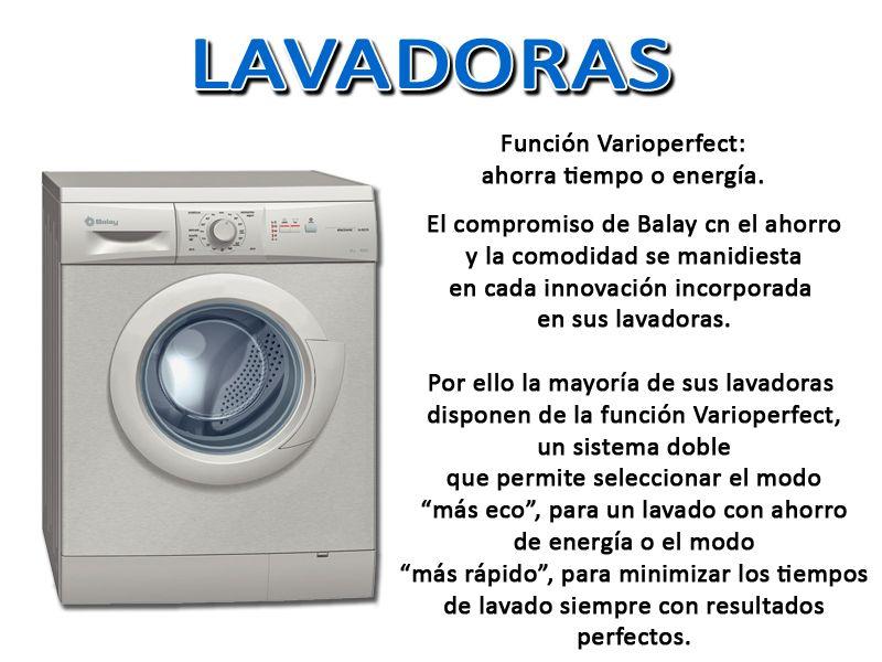 Disfruta ahora de la nueva gama de lavadoras balay y de for Funcion de la lavadora
