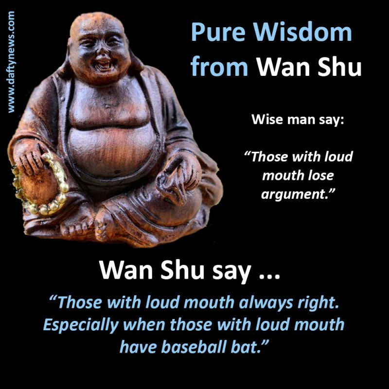 Some real-life philosophy from our very own Wan Shu