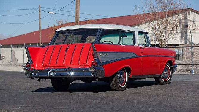 1957 Chevrolet Nomad Wagon V 8 Automatic Presented As Lot S71