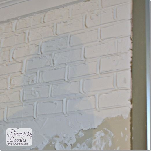 Faux Bricks Using Drywall Mud Plum Doodles Faux Brick Fake Brick Wall Drywall Mud
