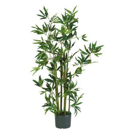 4' Bamboo Silk Plant, Green