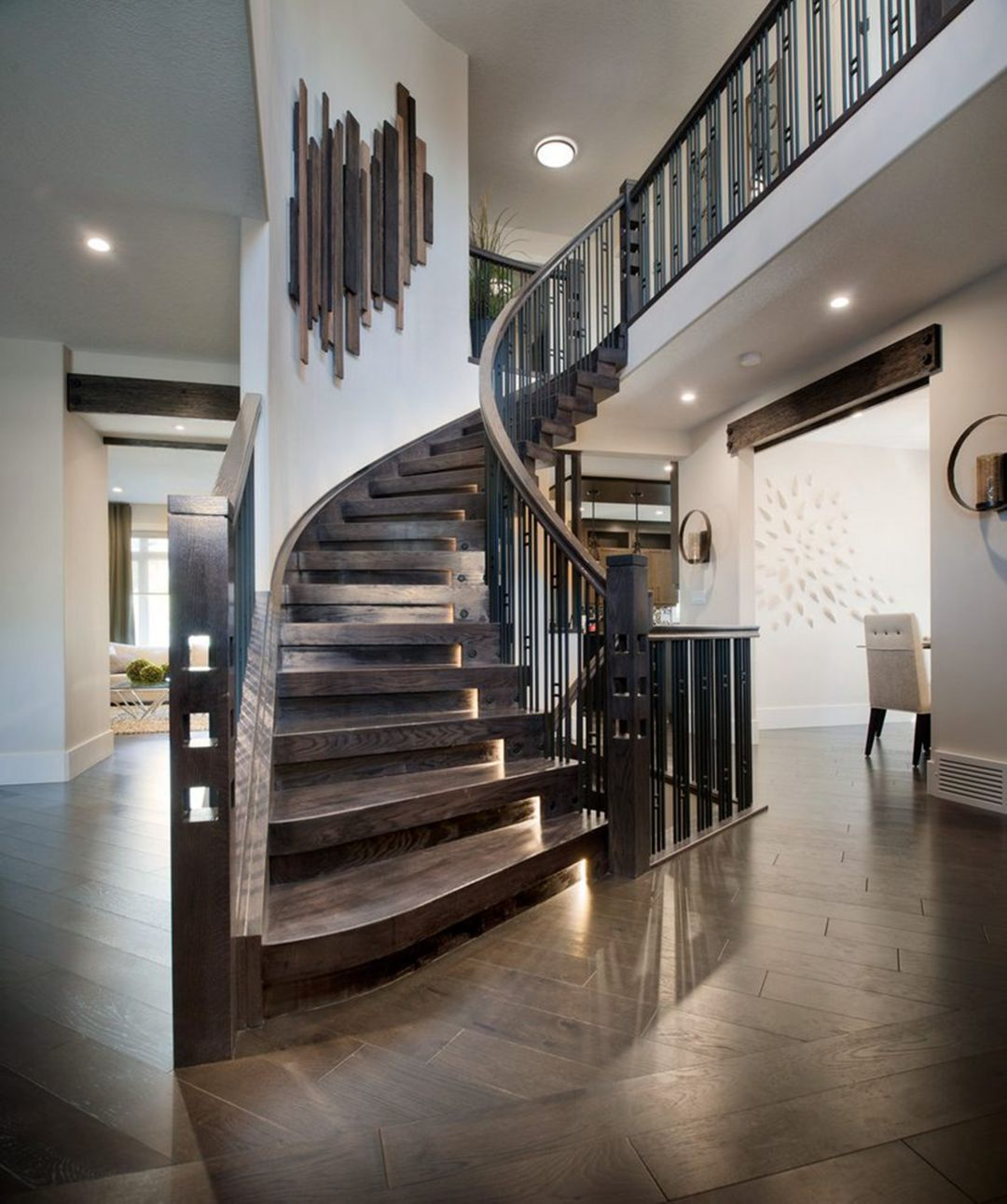 20 Beautiful Stairs Design Ideas To Add Enchanting ... on Creative Staircase Wall Decorating Ideas  id=30974