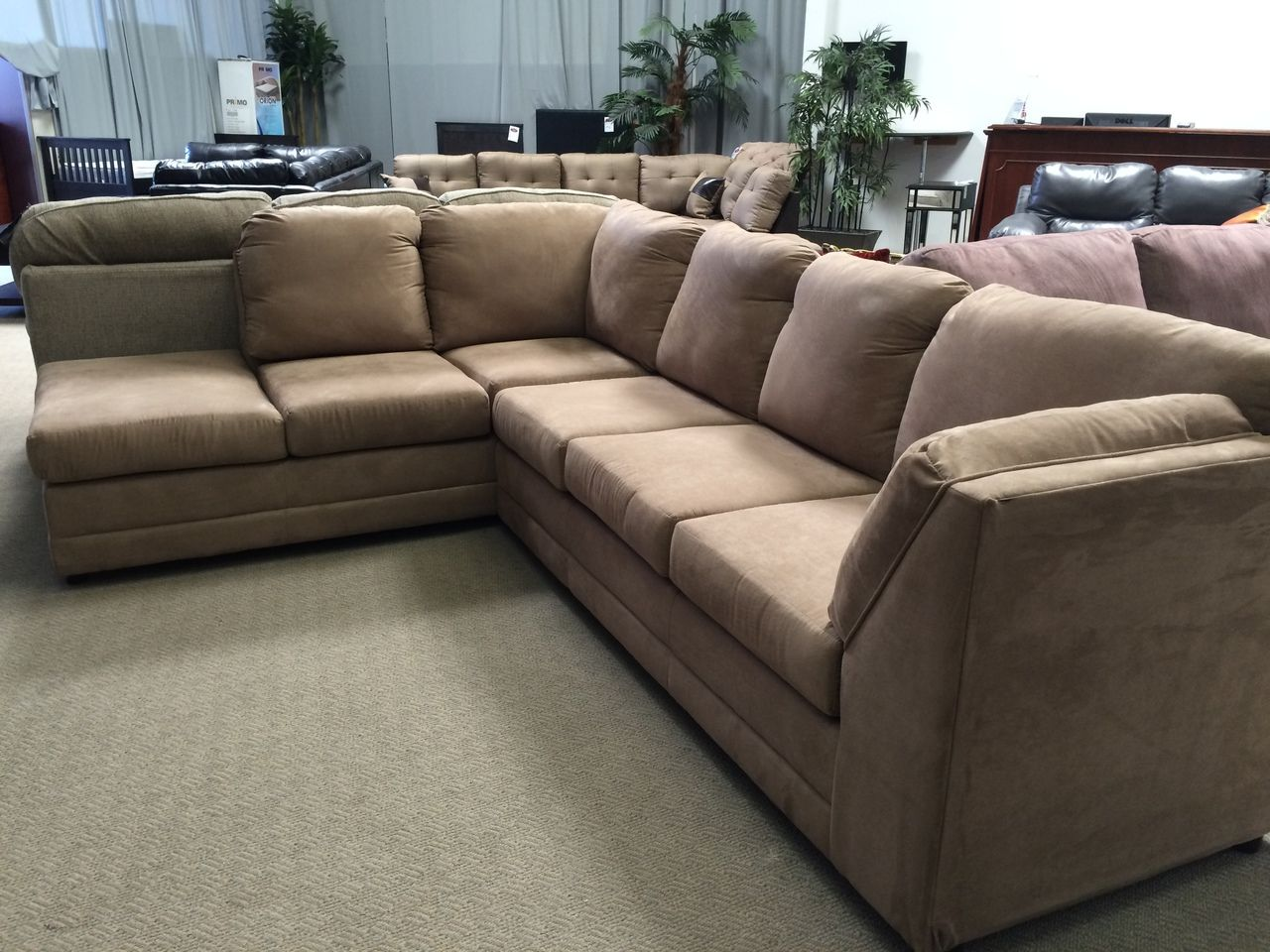 Cheap Sectional Sofas Serta Sectional Tan FA Clearance