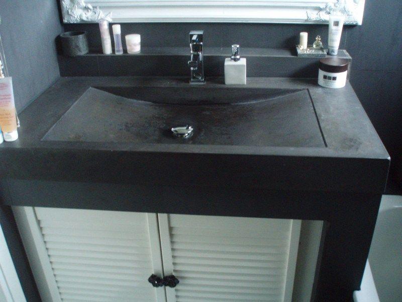 Wastafel Van Beton : Terrazzo tafel artconcrete betonnen aanrechtbladen en wasbakken