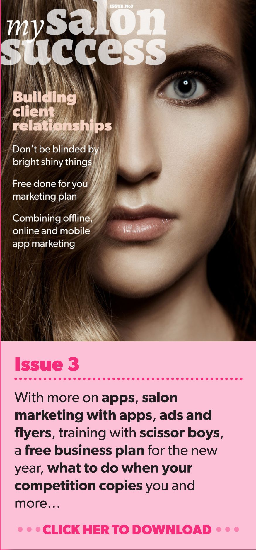 Issue 3 with more on apps, salon marketing with apps, ads