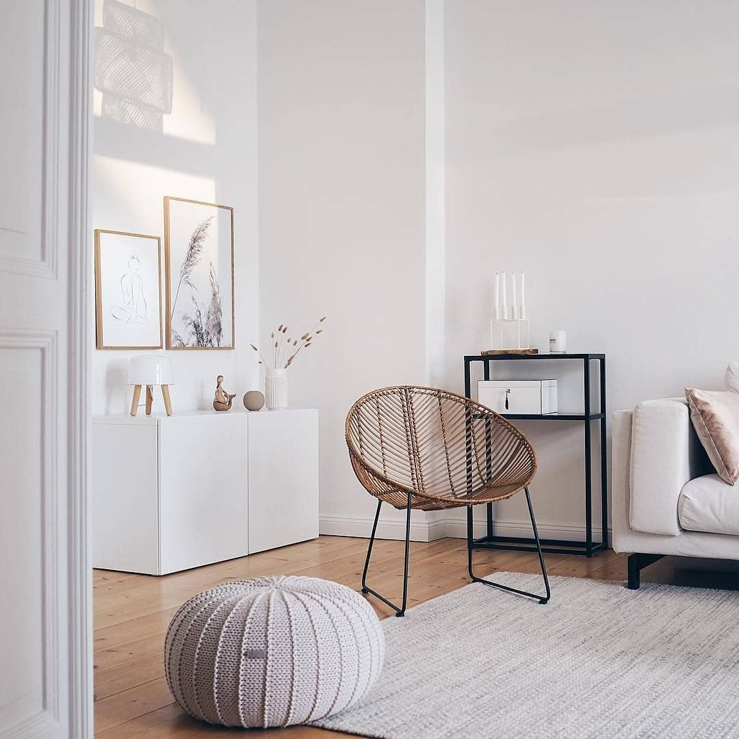 """20% OFF - code: SUPPORTSMALL on Instagram: """"Our medium size pouffe in beige in the @__katharinamaria 's house - thank you for this beautiful shot Katharina��� Have a good Thursday…"""""""