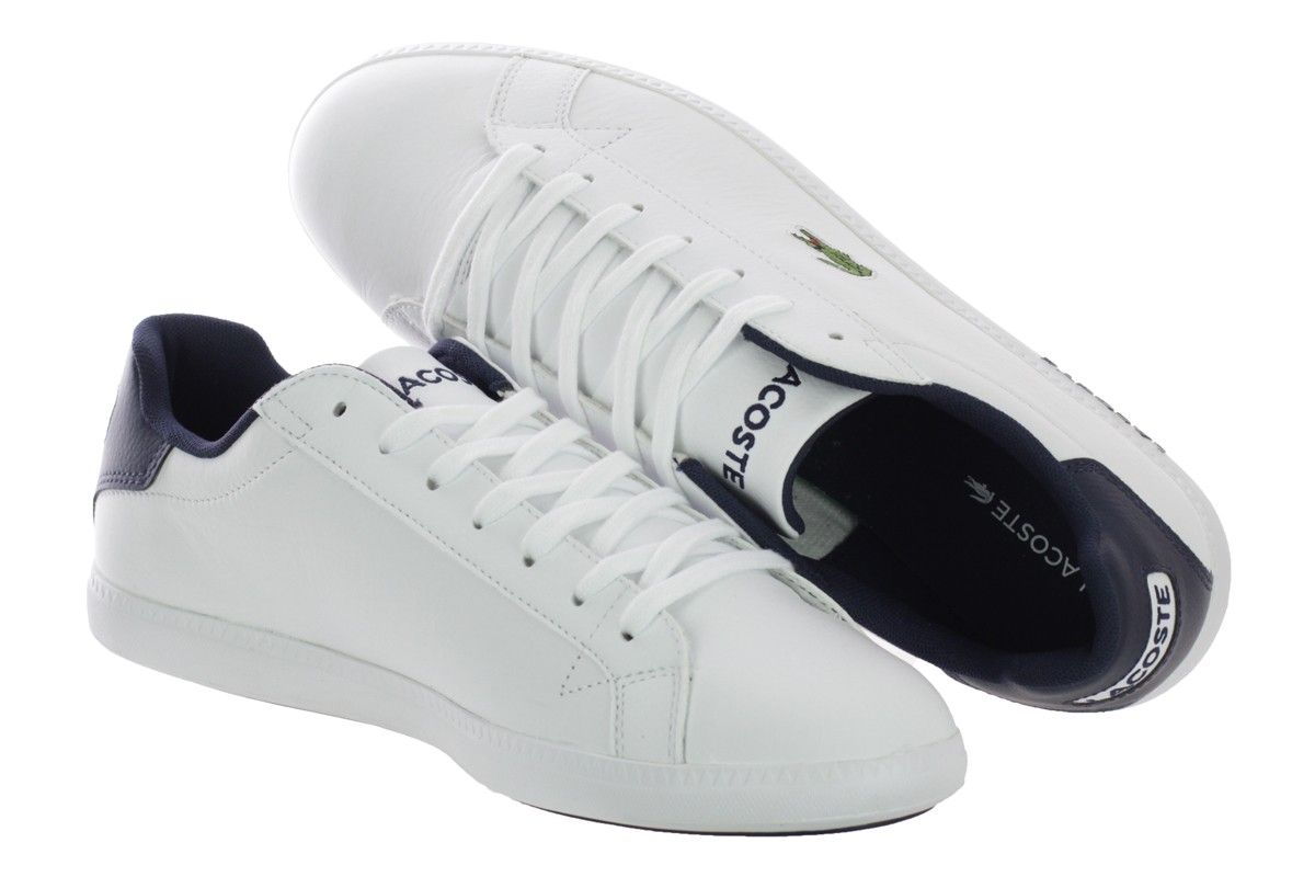 Buty Meskie Lacoste Graduate Lcr 3 Spm Wht 40 5 47 6755079811 Oficjalne Archiwum Allegro Lacoste White Sneaker Sneakers