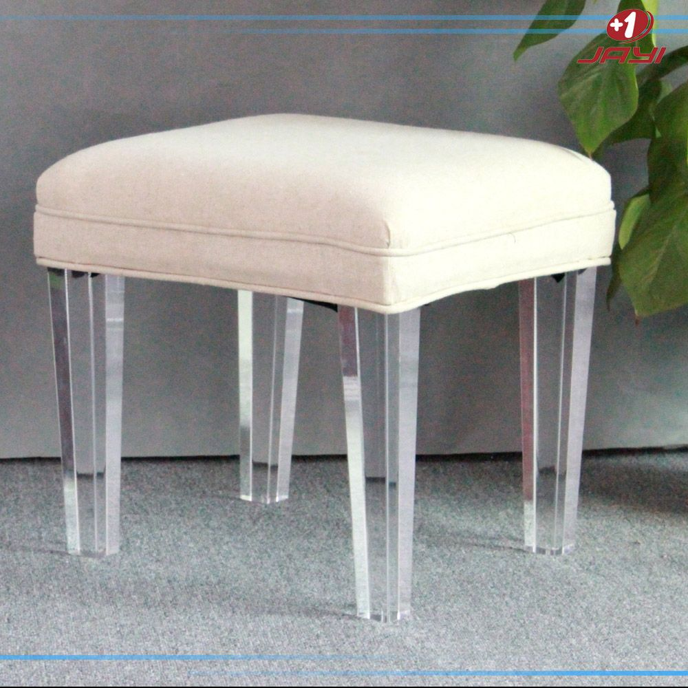 Clear Acrylic Vanity Square Lucite Stool Bench For Bedroom With Linen Cushion Buy Bench For Bedroom Clear Acrylic Lucite St Vanity Stool Vanity Wooden Vanity