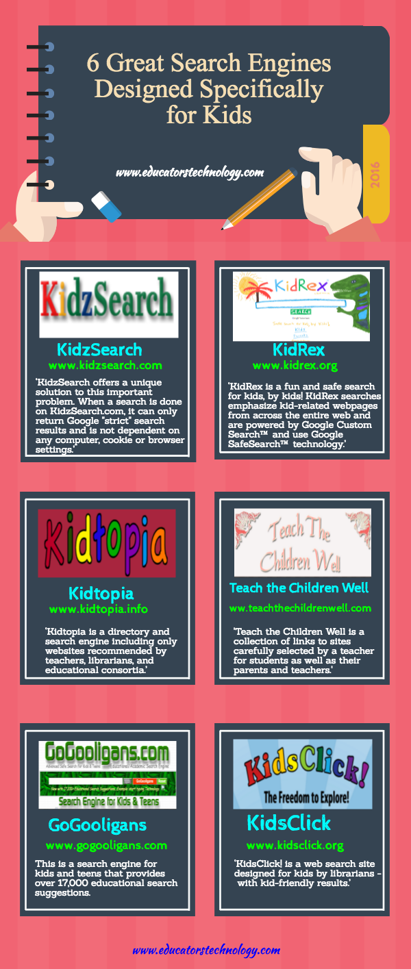 6 Great Search Engines Designed Specifically For Kids