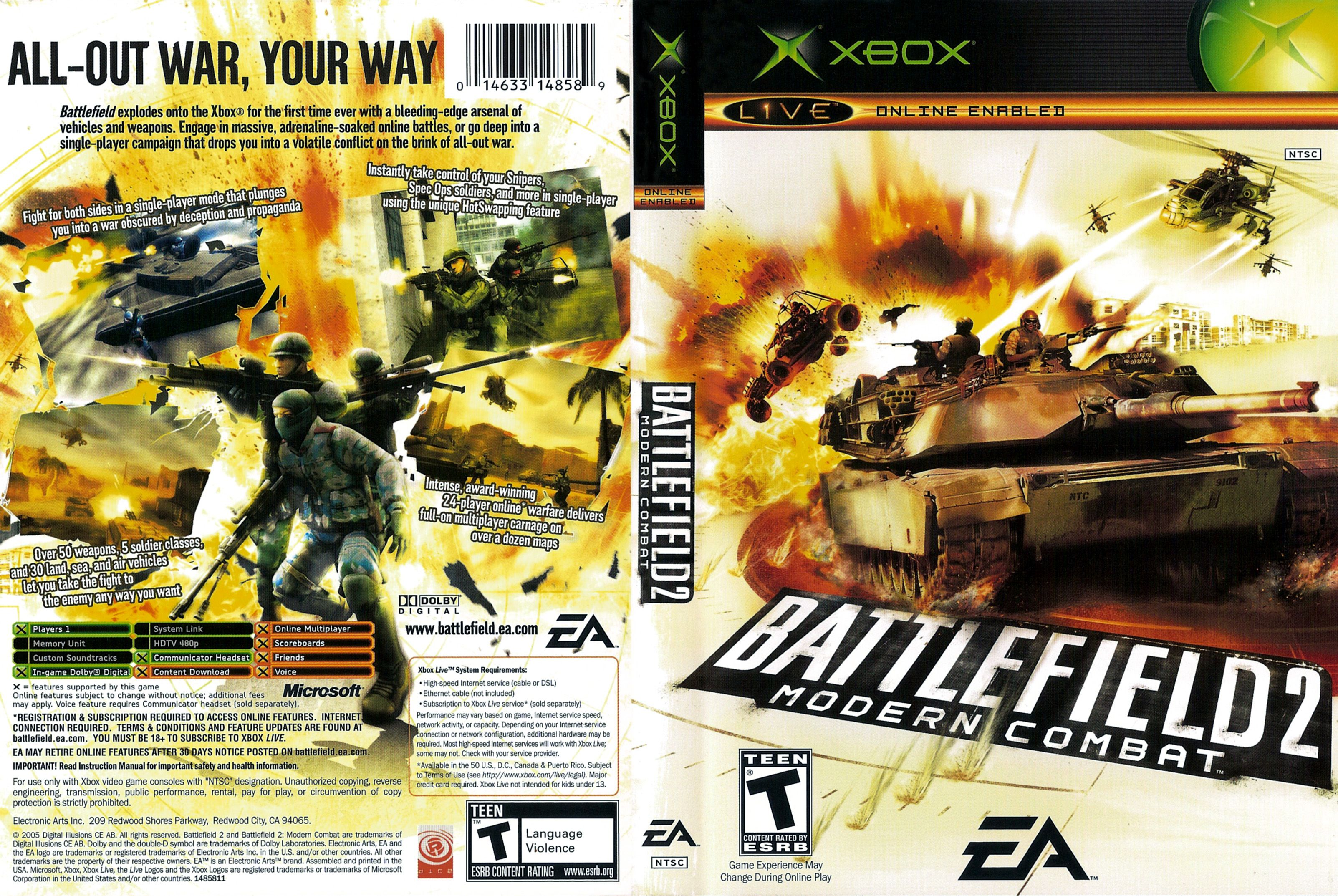 Xbox Battlefield 2 Modern Combat With Images Play Online