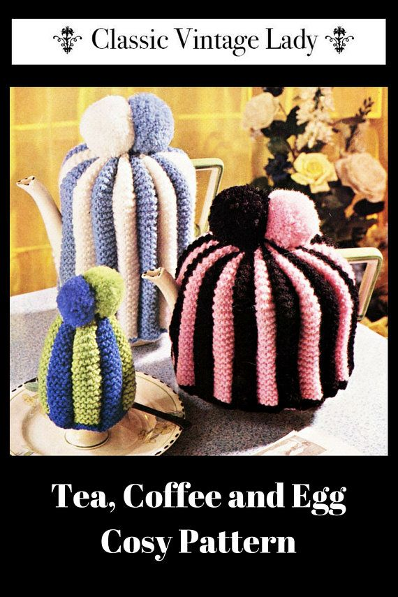 Knitted Tea Coffee And Egg Cosies Tea Cosy Cofee Cosy Knitting