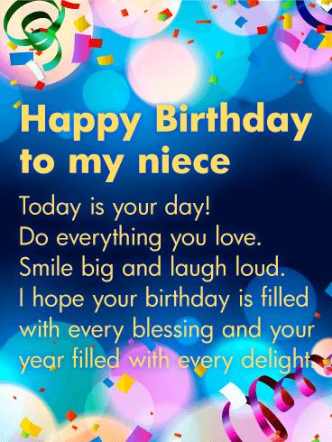 Happy Birthday Wishes For Niece Happy Birthday Wishes For Niece