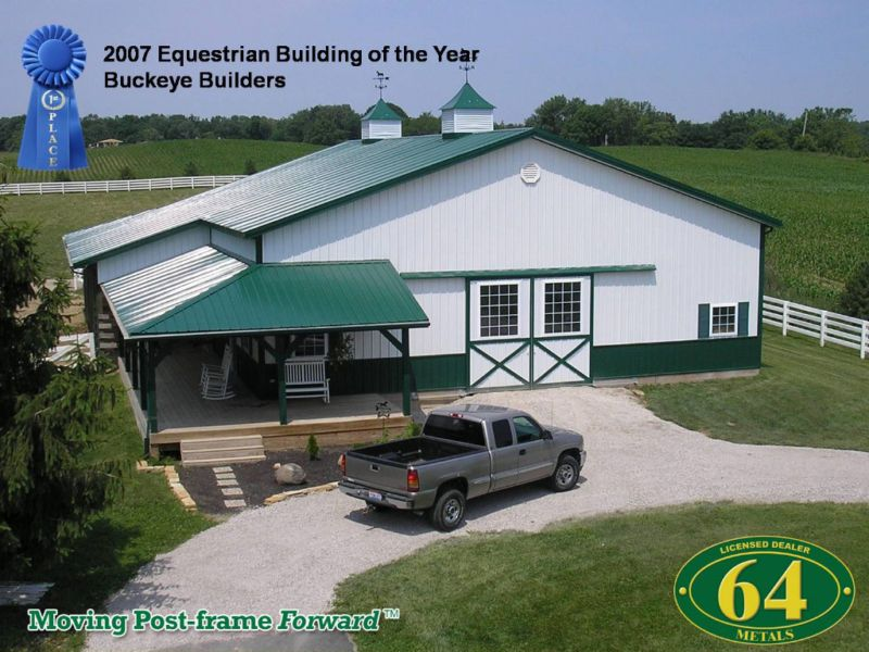 80x144x16 Steel Metal Building,Post Frame Pole Barn Kit | Barns ...