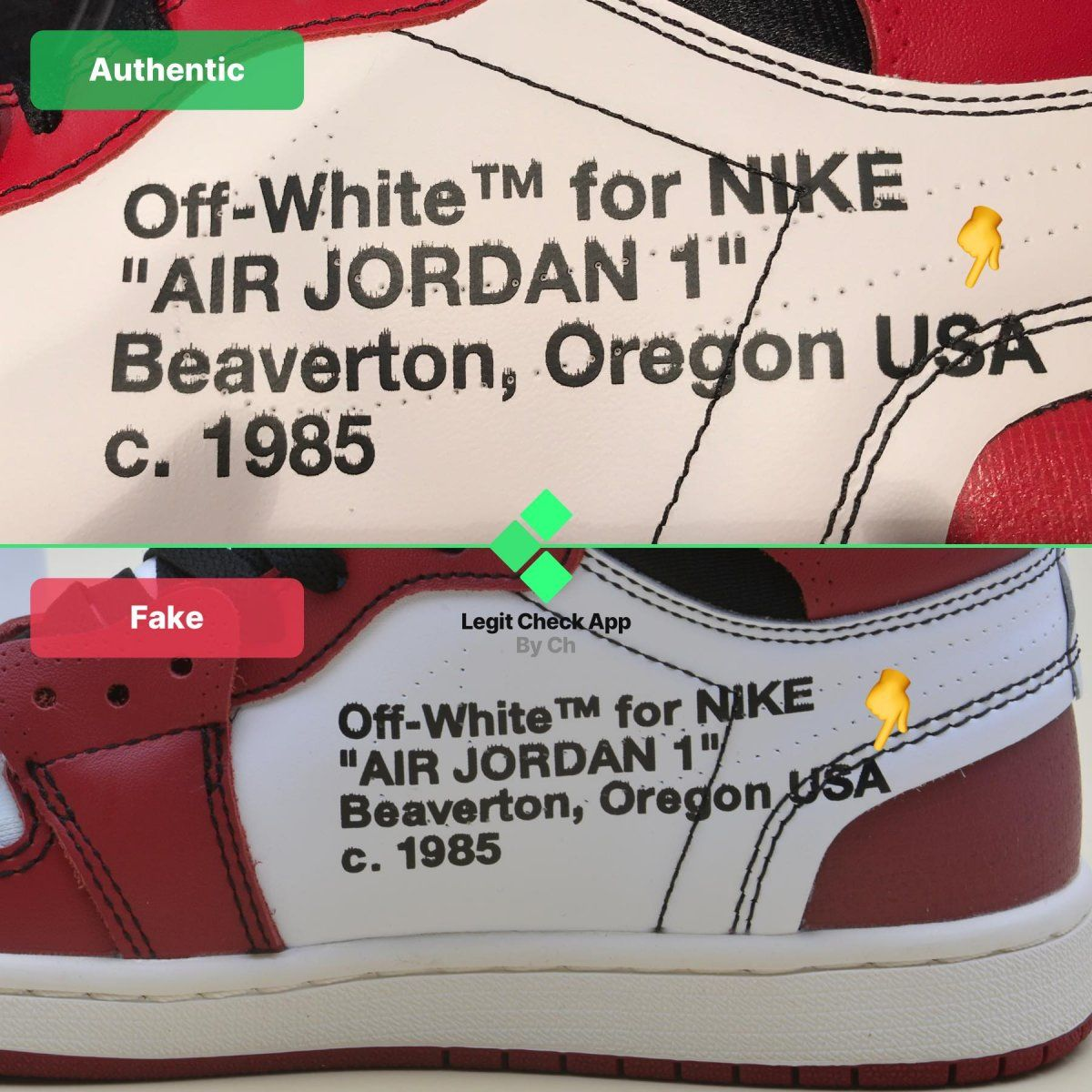 Pin on OffWhite Air Jordan 1 Real Vs Fake