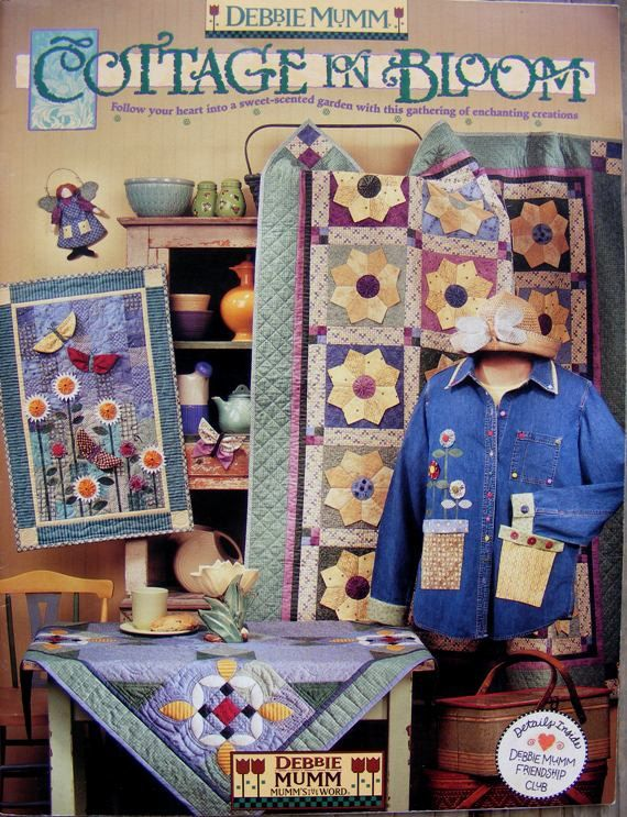 Debbie Mumm Cottage in Bloom Quilting Patterns by MultiPolarity ... : debbie mumm quilt books - Adamdwight.com