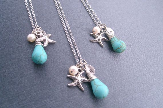 Beach Wedding Bridesmaids Gift Necklaces Wedding Jewelry
