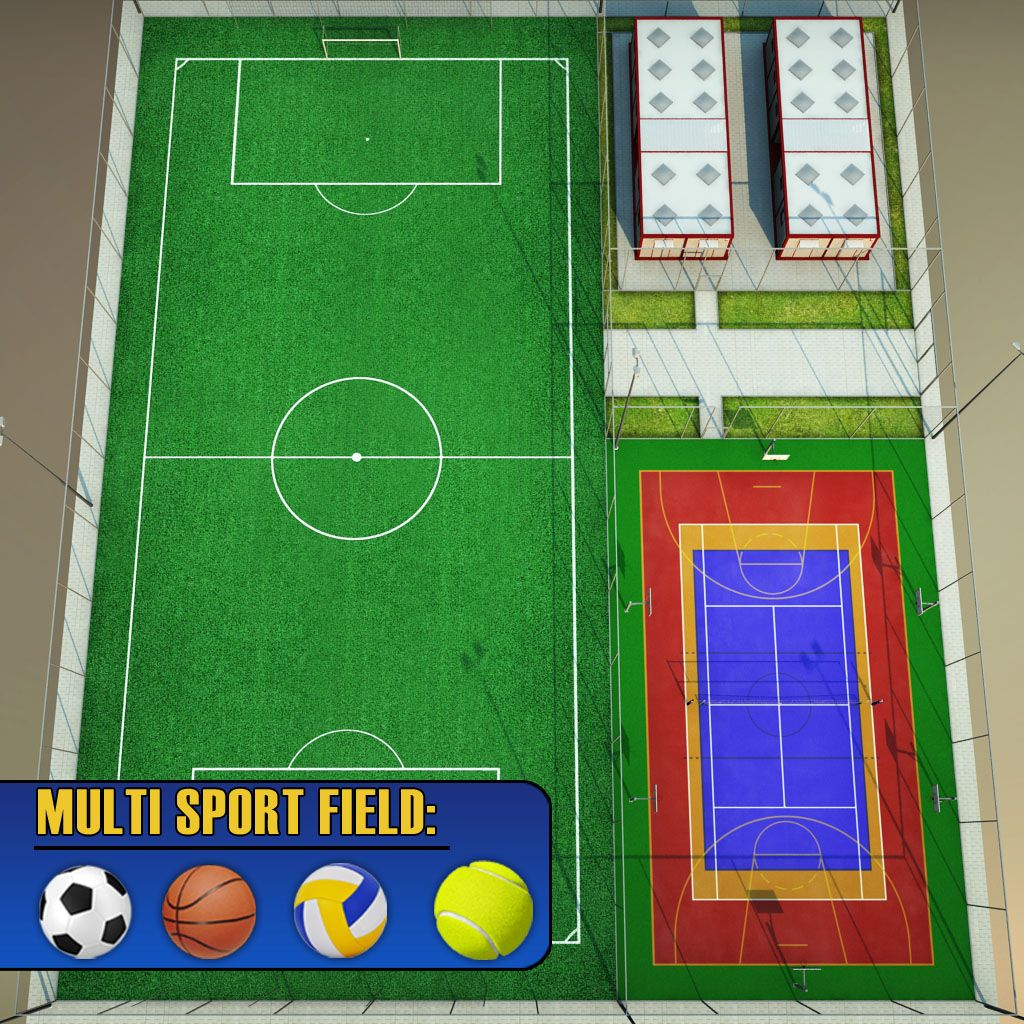 Sport Football Court Arena Pack Sport Court Sport Football Arena Sport