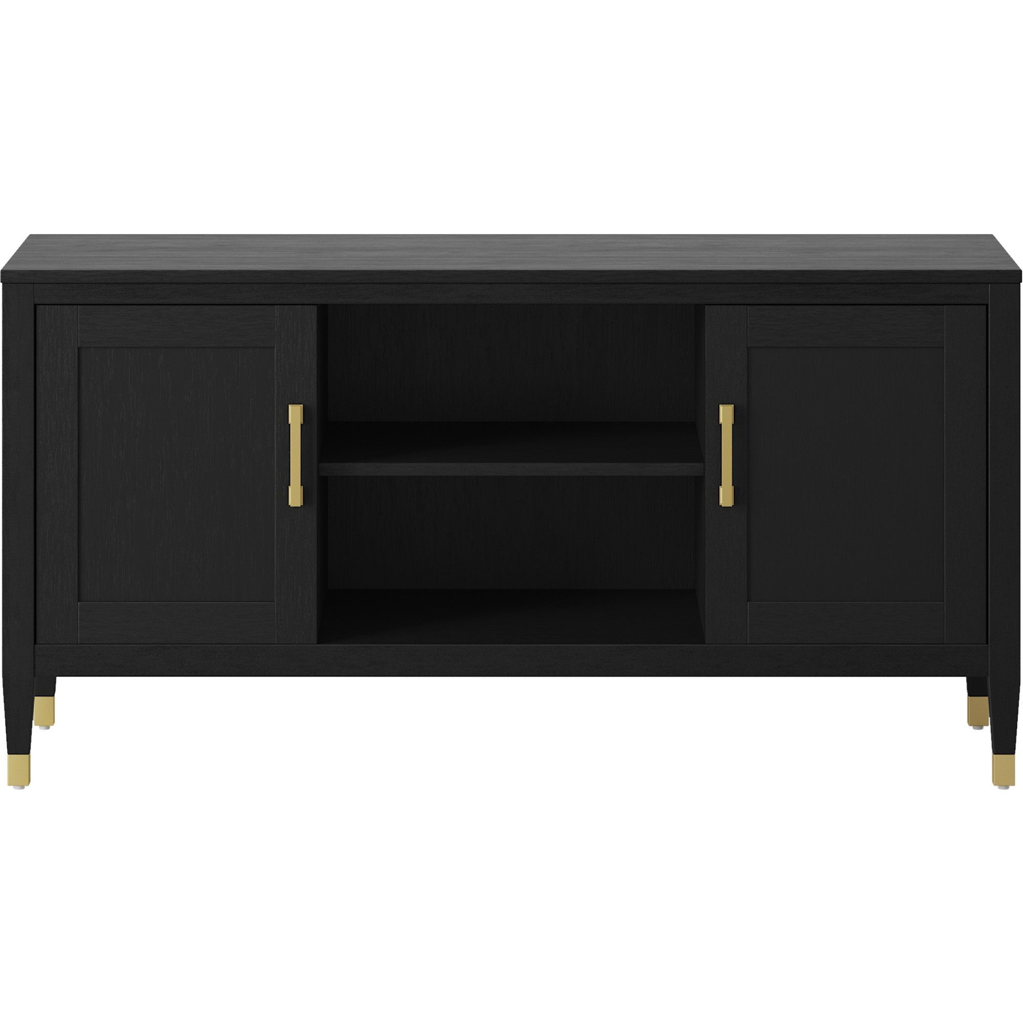 buy online cfcef a9bd7 Duxbury Black TV Stand with Gold Feet - Threshold | Products ...