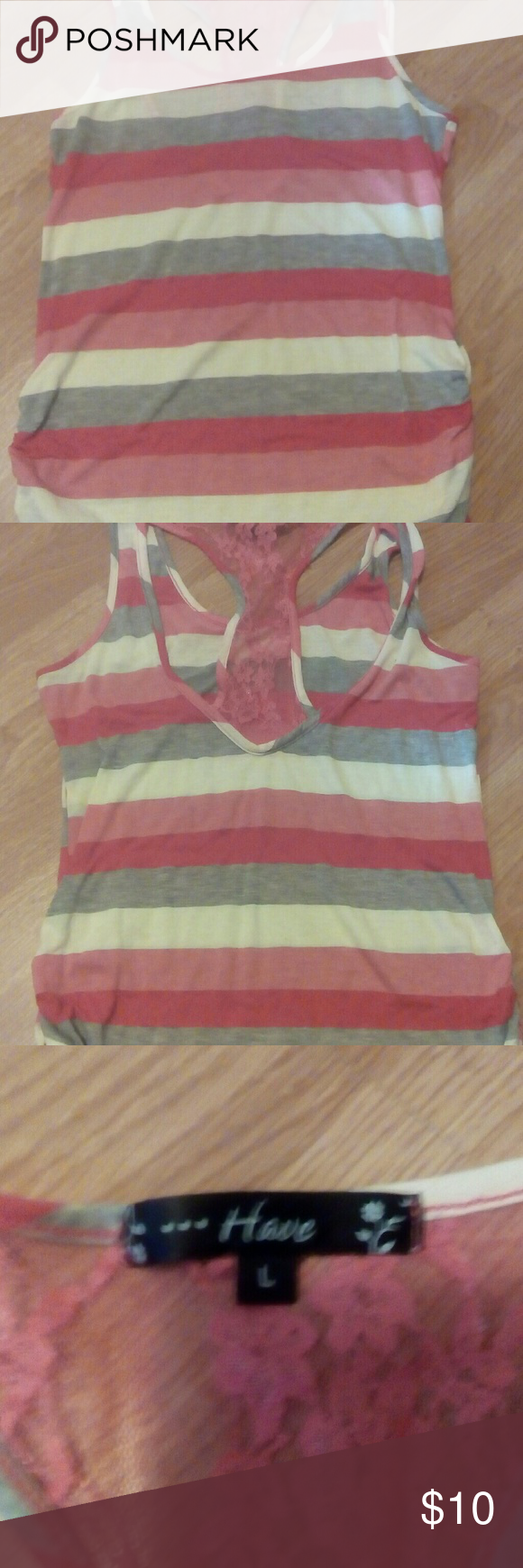 Nwot Tank top size L Great to have. The colors are a little brighter than the picture shows Tops