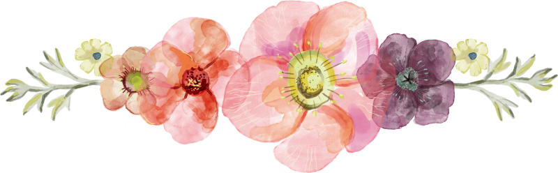 """Résultat de recherche d'images pour """"divider flower watercolor"""""""