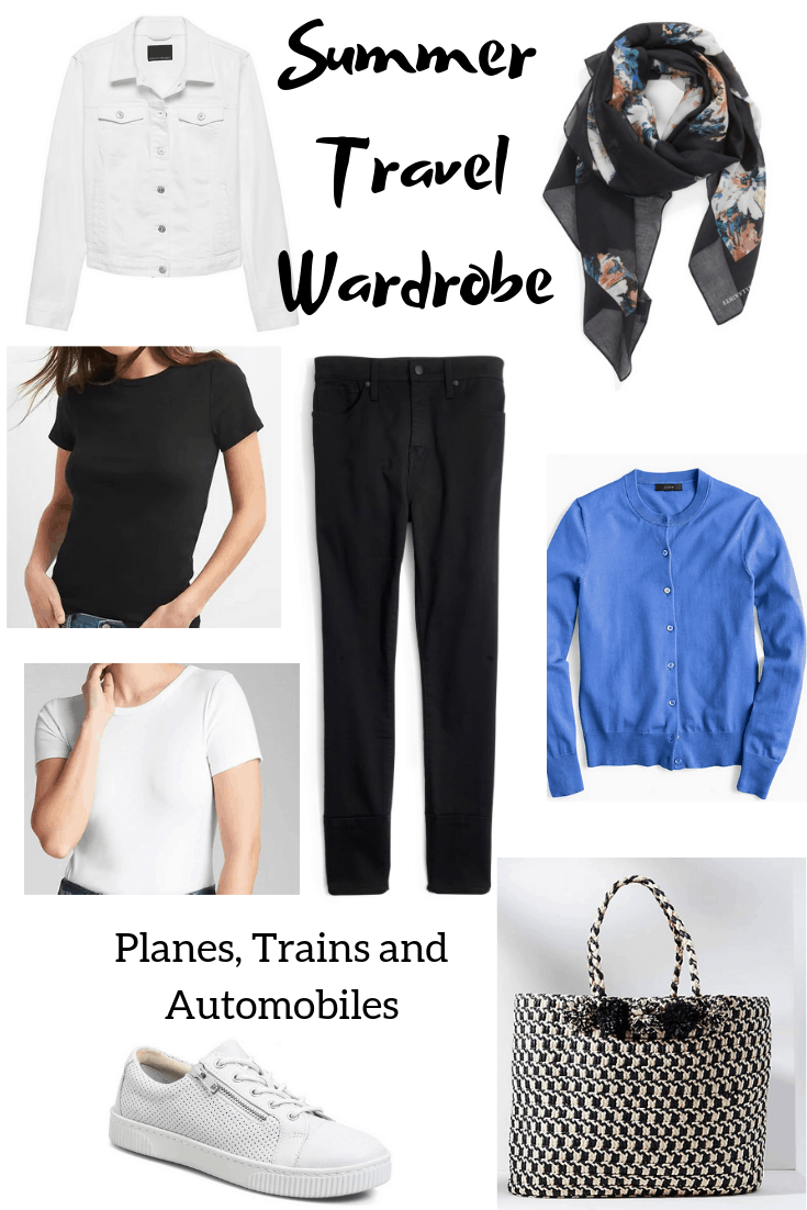 Summer Travel Wardrobe Mix and Match Outfits - Classic Casual Home
