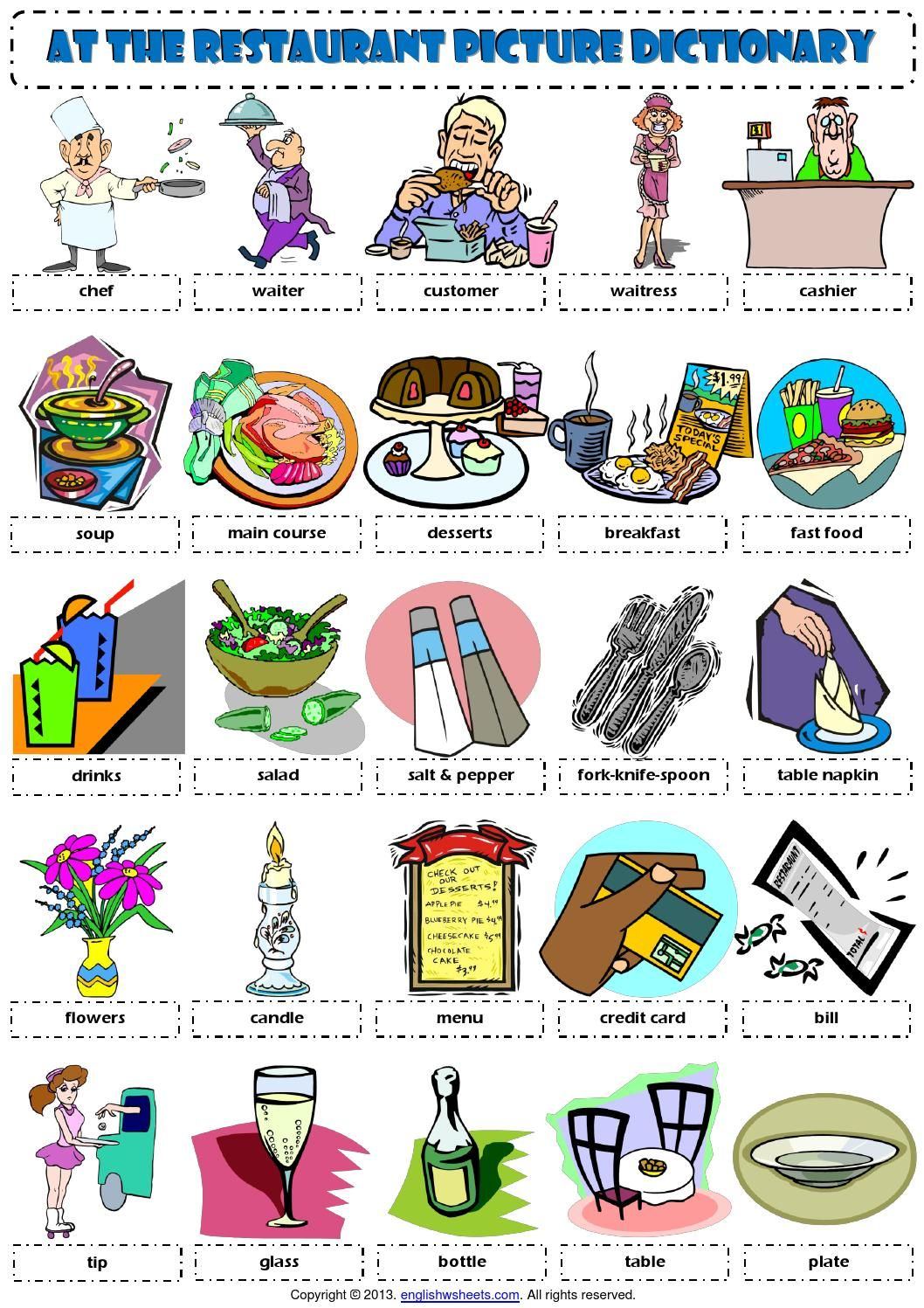 English Worksheet On Vocabulary