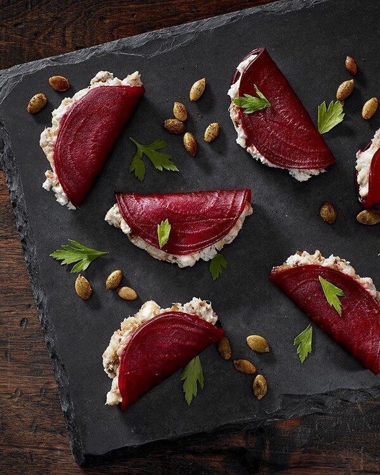 Local TX beets are now available! How gorgeous are these beetroot foldovers?