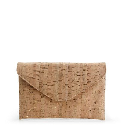 *In love with this cork and gold clutch from J. Crew. Much prettier in person and would go with everything this summer.