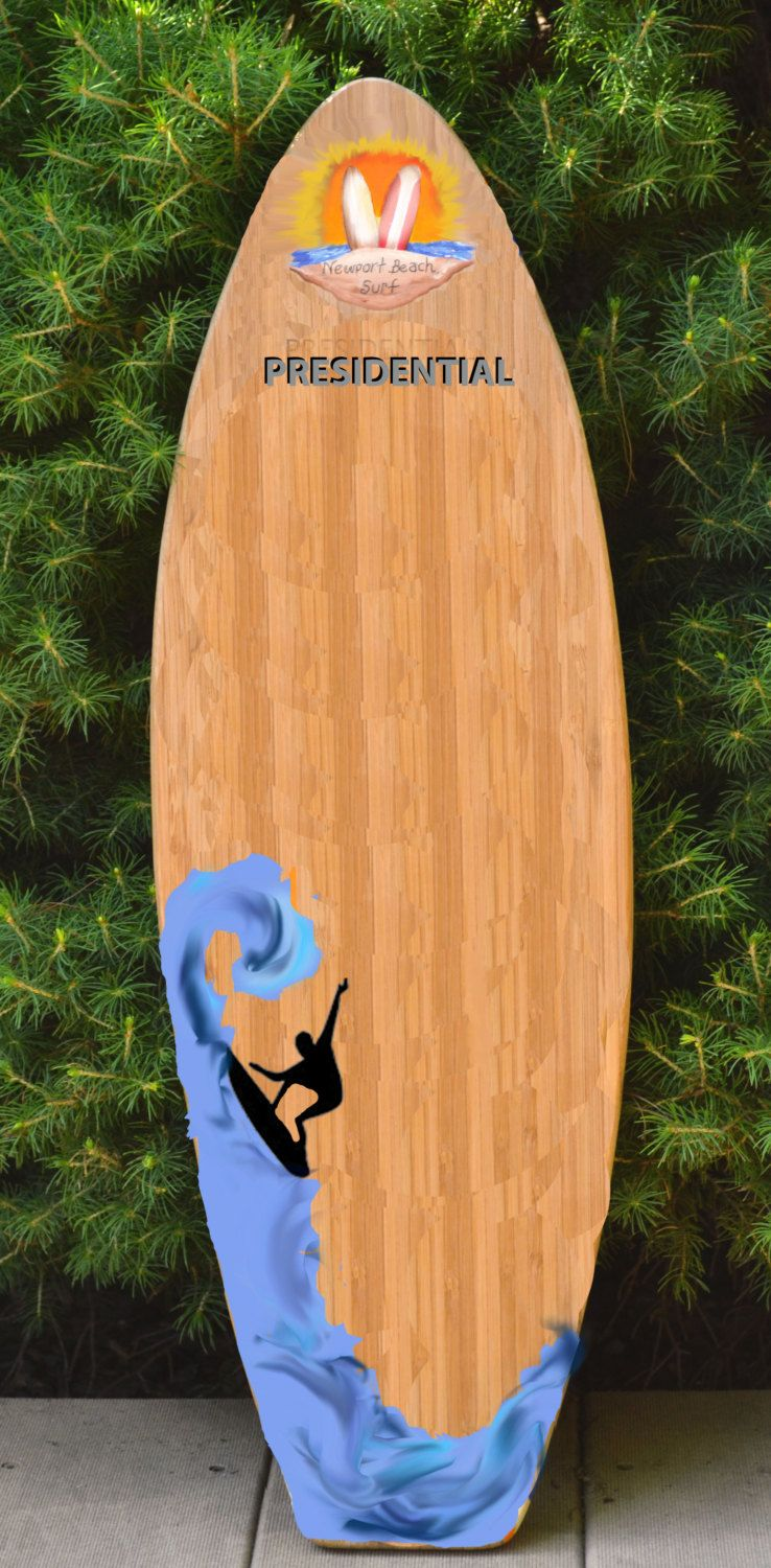 4ft Bamboo Wood Surf Surfboard Wall Art Decor Sign Personalized Free