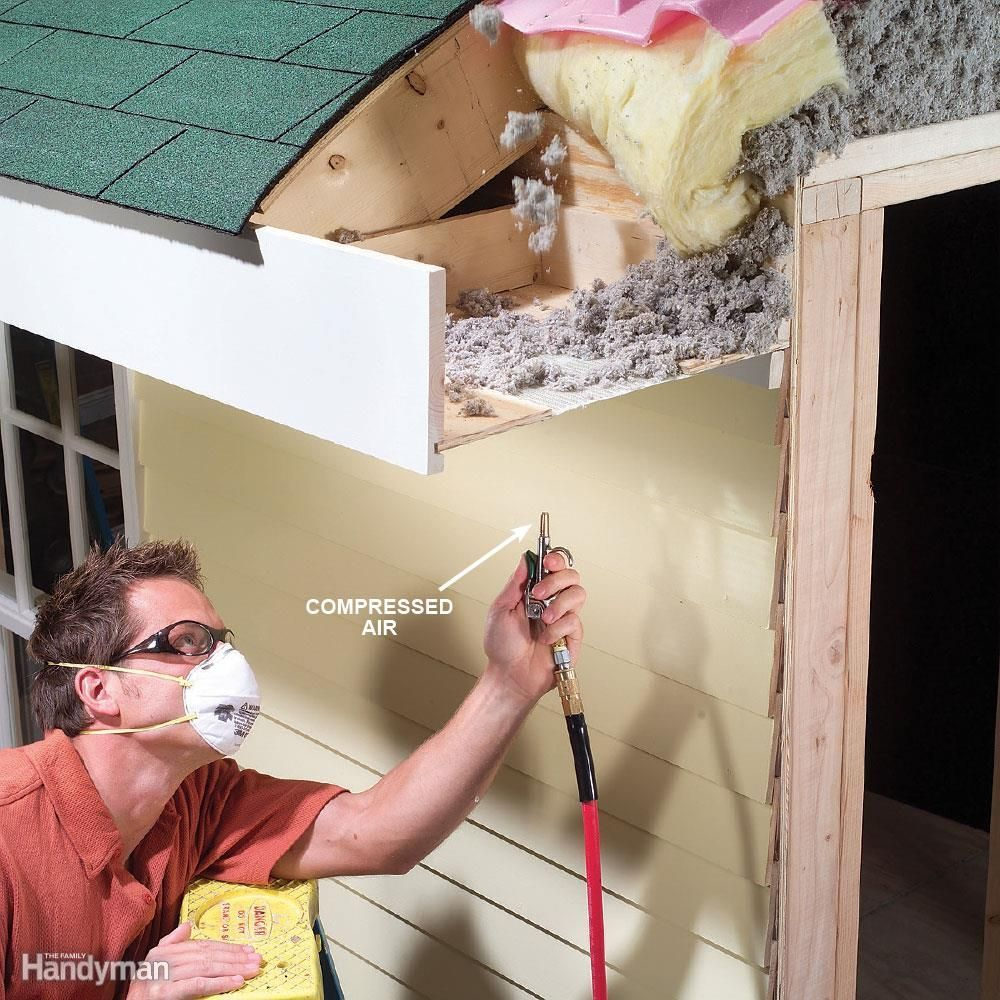 Soffit Vents Blow Out Debris From Your Soffit Vents To Maintain Good Attic Ventilation It Ll Save On Air Co Home Maintenance Spring Cleaning Tasks Homeowner