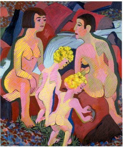 Bathing Women and Children - Ernst Ludwig Kirchner