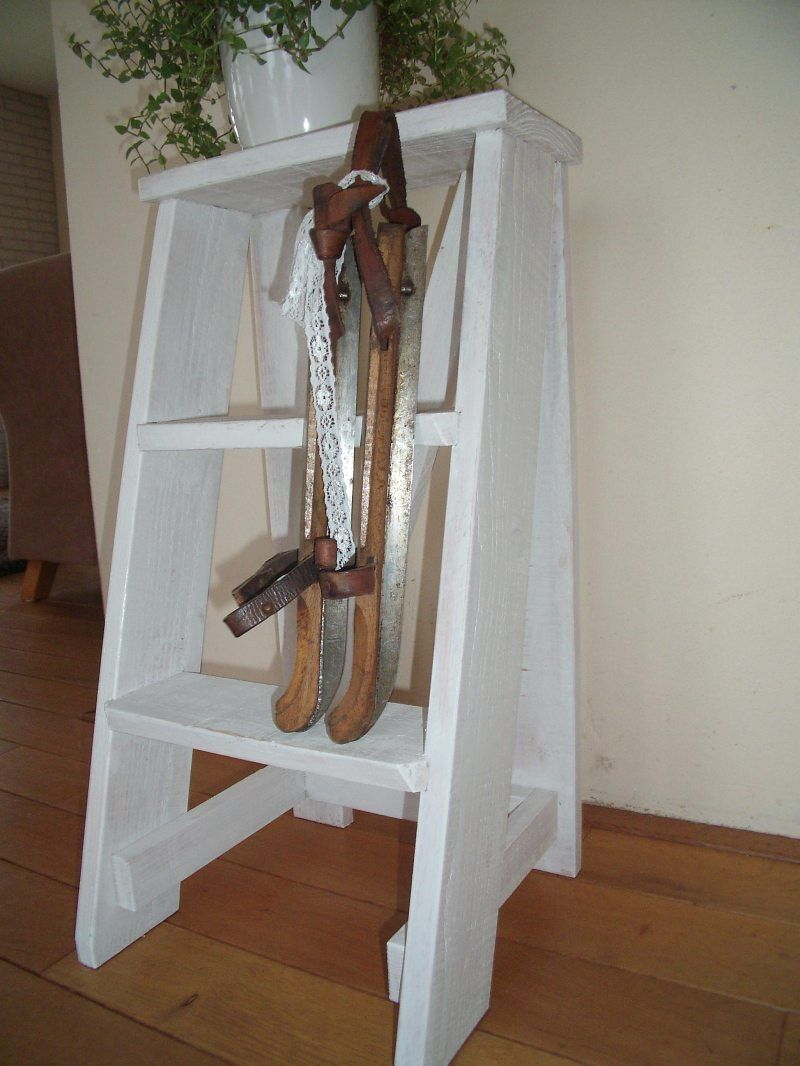 Brocante Raamdecoratie Brocanteaena Jouwweb Nl Brocante Brocant Hout Ladder Decor