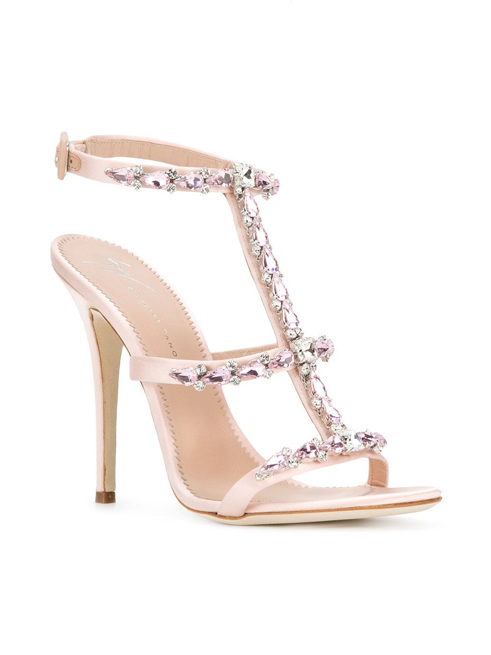 rhinestone T-bar sandals - Pink & Purple Giuseppe Zanotti Clearance Many Kinds Of Cost Order Cheap High Quality NBxcO