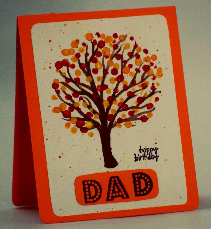 Happy Birthday Dad Fall Theme Handmade Birthday Card Handmade
