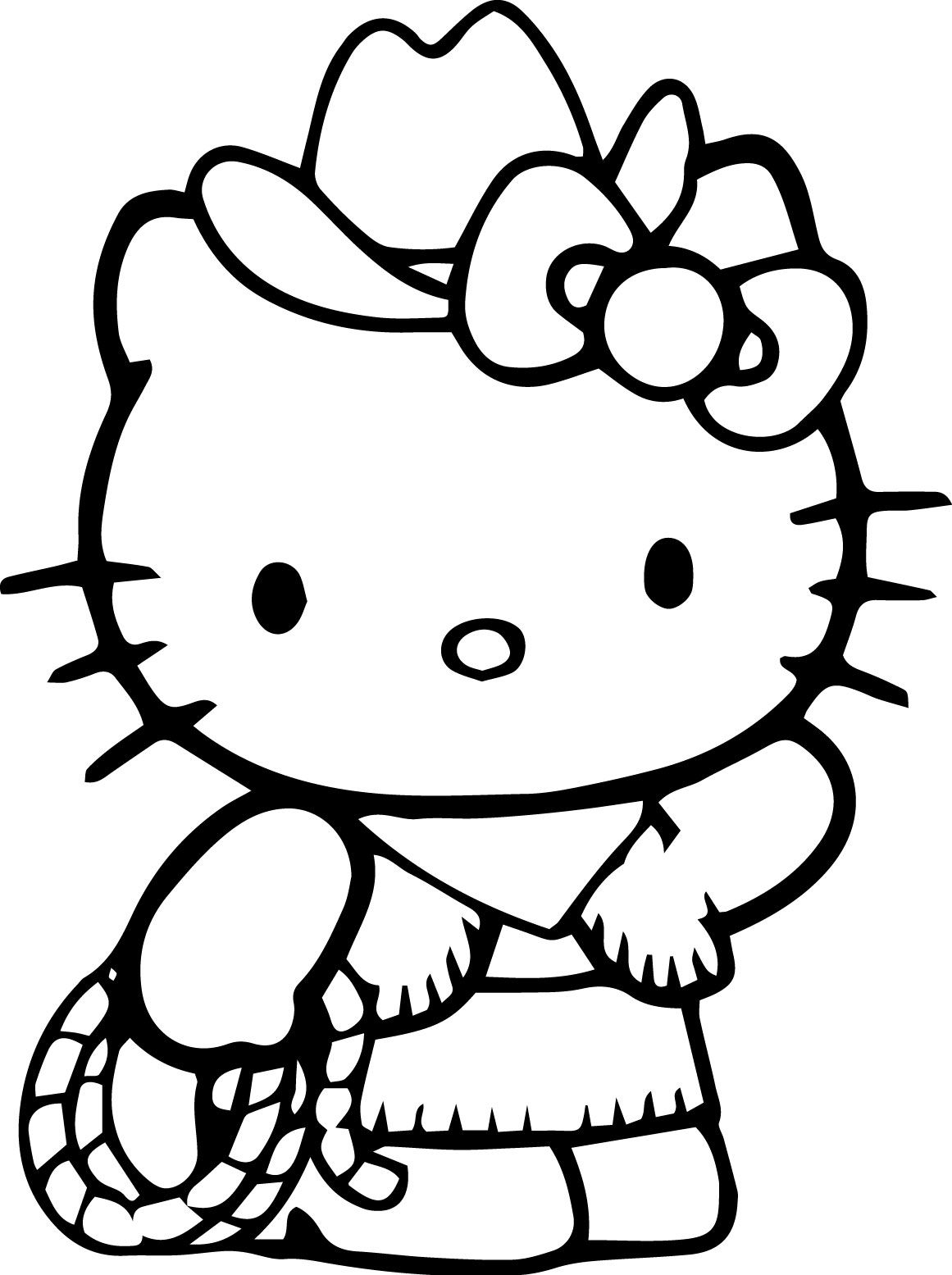 Superb Hello Kitty Coloring Pages