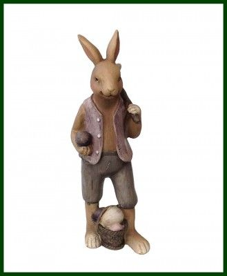 Bezaubernde Deko Figur JUNGE Hase Poly Kaninchen