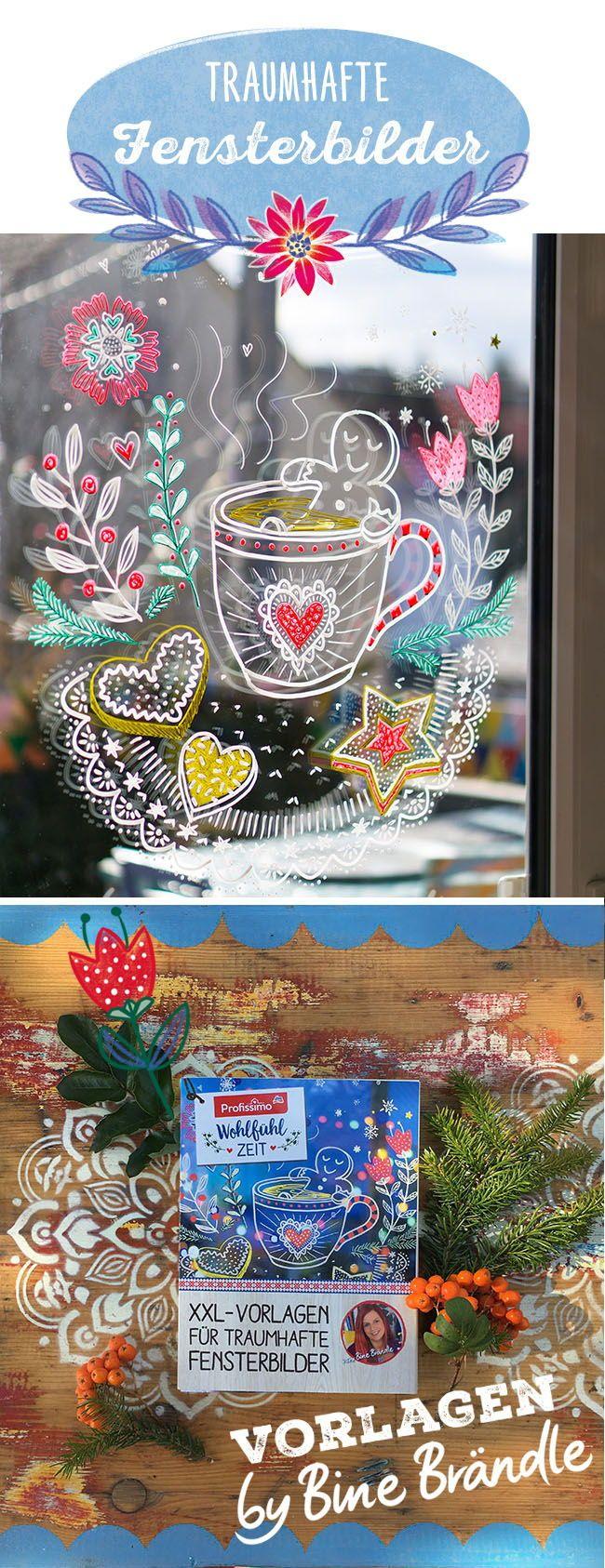 Traumhafte Fensterbilder Wie Dieses Zum Anknabbern Susse Lebkuchenmannchen Ganz Einfach Selber An Die Fensterscheibe Malen Mit Kreidemarke Fensterbilder Fensterbilder Weihnachten Und Weihnachtsbasteln