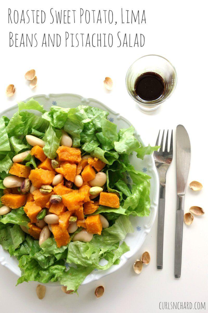 Roasted Sweet Potato Lima Beans And Pistachio Salad
