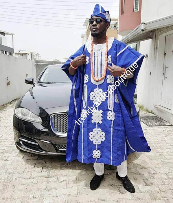 Agbada Set Nigerian Engagement Outfit Yoruba Mens Complete Aso Oke Yoruba Grooms Aso Oke Agbada African Grooms Outfit Aso Oke Agbada